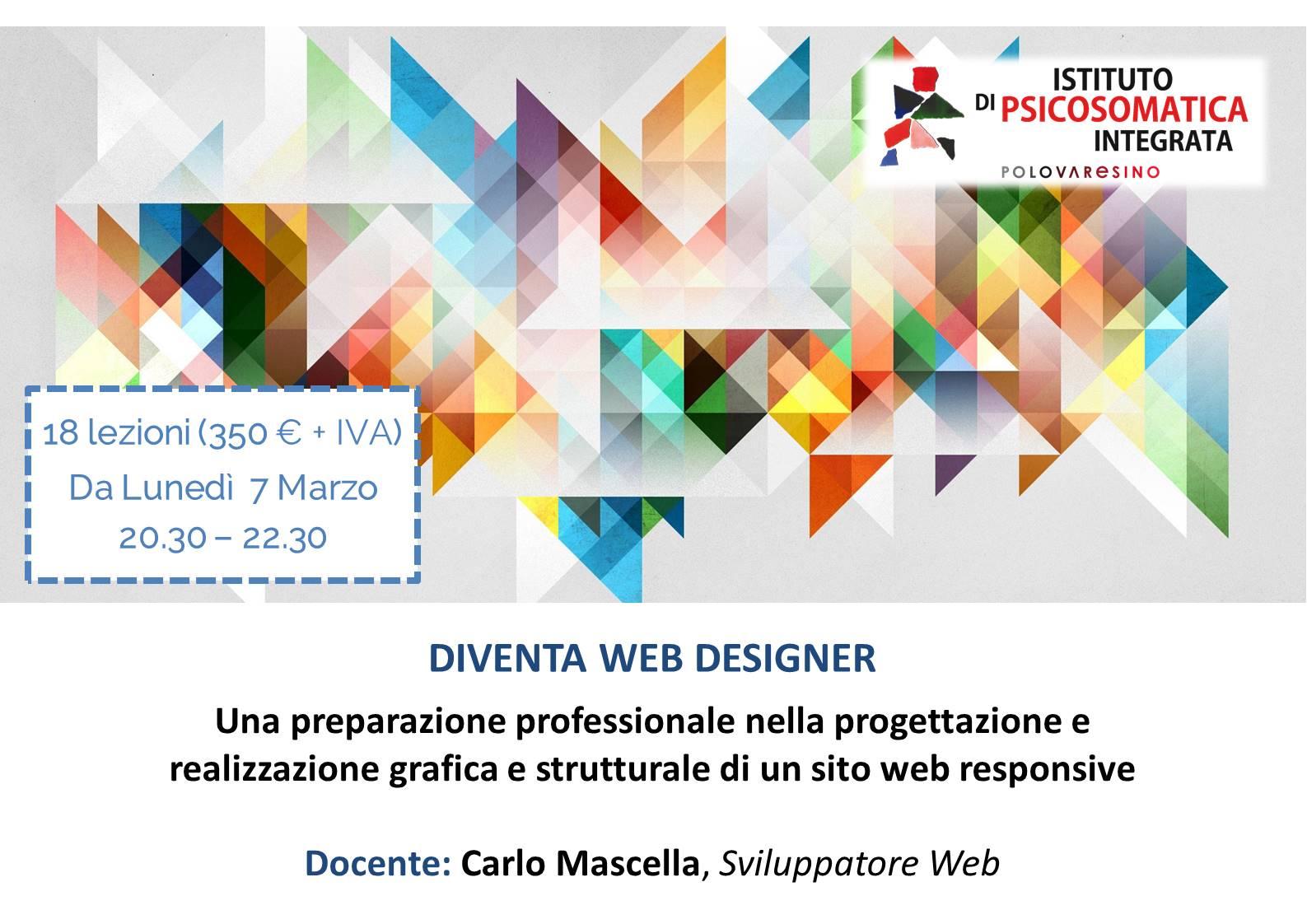 Diventa web designer corso professionale per la for Sito web per la progettazione di mobili